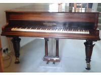 Broadwood and Sons Model 1a Rosewood Overstrung Boudoir Grand Piano