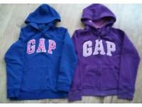 Gap girls hooded jumpers age 13 yrs