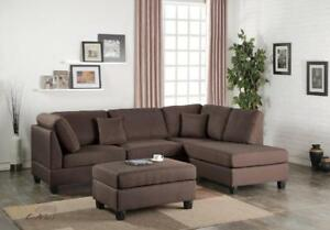 FREE shipping in Vancouver! San Francisco Sectional sofa with Reversible Chaise!