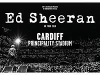 Ed Sheeran tickets x3 Cardiff.