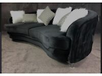 Chesterfield curved sofa **reduced **