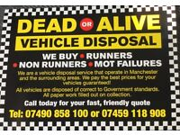 DEAD OR ALIVE VEHICLE DISPOSAL ✔️BEST IN MANCHESTER✔️ *ALL SCRAP CARS & RUNNING BOUGHT CASH**