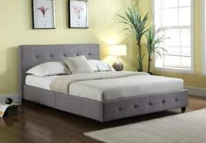 BRAND New! Grace Upholstered Linen Platform Bed, FREE SHIPPING in Laval