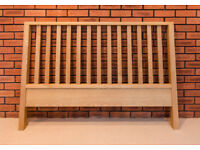 Oak headboard in a slatted design (52 inches wide)