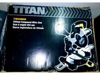 TITAN 254MM COMPOUND MITRE SAW 240V TTB233MSW