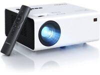 NEW Crosstour Projector, Native 1080P Mini Portable Projector, Home Cinema