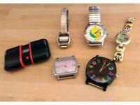 Watches - Joblot. Mix of old & new. Disney, Pineapple etc. Arts & Crafts.
