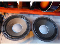 Pair of Leech 12 inch, 8ohm, 65watt guitar/bass speakers