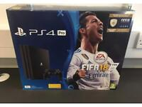 PS4 pro 1TB fifa 18 bundle BRAND NEW
