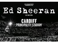 Ed Sheeran - Standing Tickets - Cardiff - Friday 22nd June