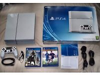 White ps4 Playstation 4 500gb boxed with controller and games!!!