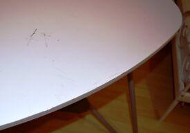 White top Ikea table