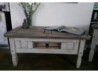 2 matching chabby chic rustic coffee tables