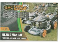"Self propelled 4 stroke petrol lawn mower. BMC 18"" blade, electric start, as new."