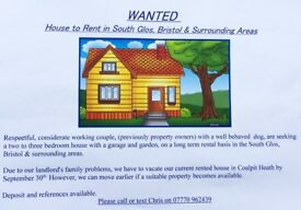 2 to 3 bedroom house to rent in Bristol area