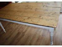 Large Farmhouse kitchen or dining table. Seats 8+