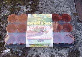 Planting Pot Pack , 18 Pots for seedlings or cuttings. New and Sealed.