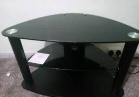 Black TV stand (table)