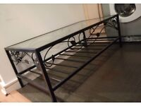 Iron Metal Glass Table Unit Stand TV Garden or TV Stand