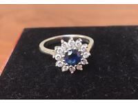 Sapphire and diamond engagement ring *great condition*