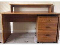 Home office Desk and 3 different size storage cupboards