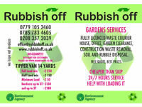 Rubbish clearane, bilding rubbish removal, garden service , house clearance, fence installation