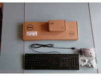 New Unused Dell wired usb keyboard and mouse kit Black