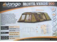 Vango Monte Verde 900 - fantastic family tent plus footprint and carpet