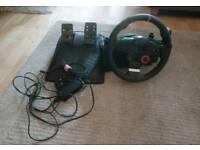 Logitech DFGT racing wheel & pedals