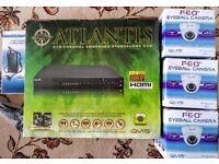 Qvis Atlantis DVR HDMI FULL HD 1080p + 500GB HDD+ Mobile App Plug&Play + 3 Cameras + night vision