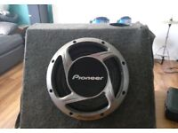 """Pioneer 12"""" Sub in professionally built ported box £40"""
