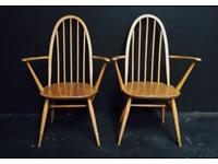 Ercol windsor quaker carver chairs
