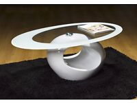 Designer Oval Coffee Table (WHITE)