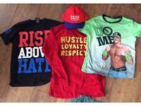 3x John Cena WWE t-shirts + Cena cap