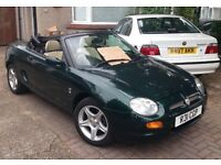 MGF 1.8i Convertible, One full years MOT runs out on the 16/8/2017