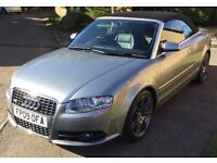 Audi A4 S class convertible - good condition & low mileage