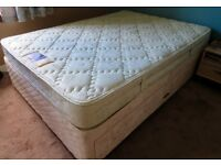 Double divan bed and matress in good condition