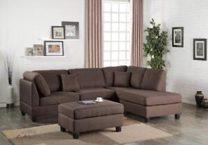 FREE shipping in Montreal! San Francisco Sectional sofa with Reversible Chaise!