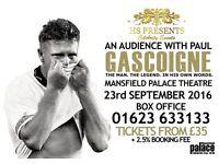 An Audience with Paul Gascoigne 23/09/16