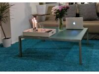 Coffee Glass Table - Steel base &Tempered Glass - Living Room