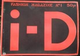 EXTREMEMELY RARE!!! I-D MAGAZINE NO.1, NO.2, NO.3 & NO.5 1980'S