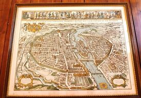 A fine colour illustrated reproduction map of Paris (1630)
