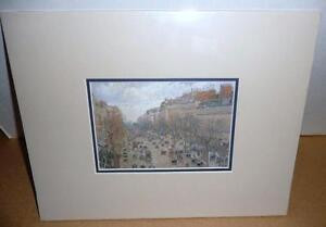 "Camille Pissarro ""Boulevard Montmartre"" 1897 Art Print/Matted London Ontario image 1"