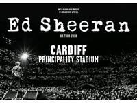 Ed Sheeran standing ticket Friday 22nd June
