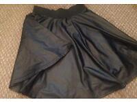 Wet Look Skater Skirt