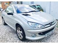 ★🚷KWIKI AUTO SALES🚳★2002 PEUGEOT 206 CC 1.4 CONVERTIBLE★PART EX TO CLEAR★MOT AUGUST 2018★