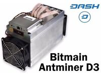 X2 Antminer D3 (included Aw3++)