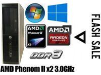 HP PC Desktop, AMD 3.0GHz, 250GB HD, 4GB Ram DDR3, Minecraft
