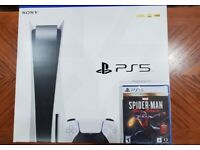 PS5 disc version (BRAND NEW) -extra dual sense controller & Spider man game