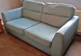 DFS 2 seater sofa Excellent Condition in Light Blue